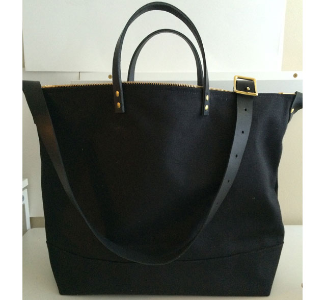 Modern-Coup-Black-Waxed-Canvas-and-Leather-Utility-Tote