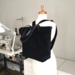 Custom Bag: Large Zipper Tote With Convertible Backpack Straps. All Black