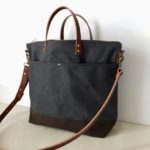 Custom Bag: Utility Tote For Travel in Charcoal Grey