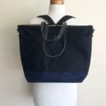Custom Bags: Large Carrier Tote Convertible Backpack | Black and Midnight Blue