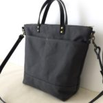Custom Bag: Commuter Bag in Charcoal Grey with Black Leather