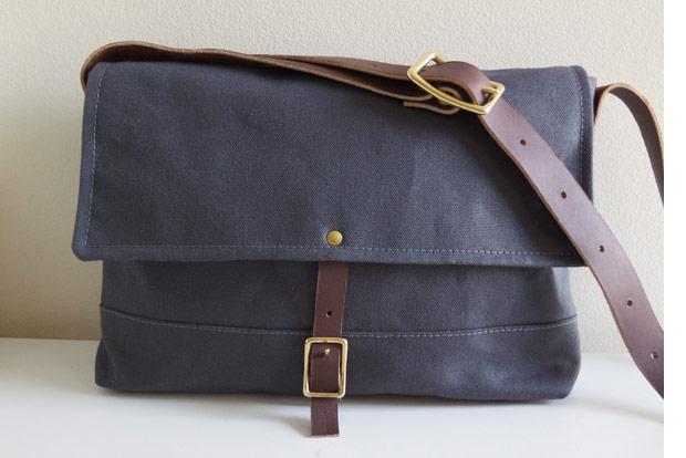 Modern Coup Wax Canvas Field Messenger Bag