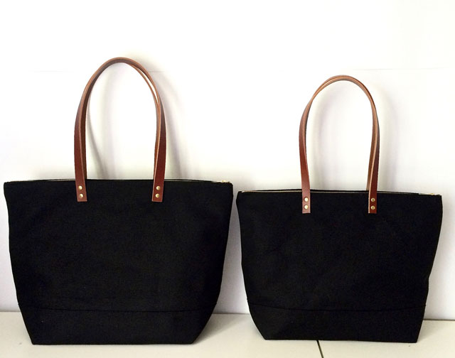 modern-coup-waxed-canvas-bags-large-medium-size-totes-black-brown-leather