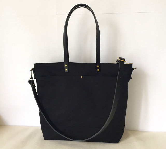 modern-coup-waxed-canvas-leather-bags-carrier-tote-with-front-pockets-black-main