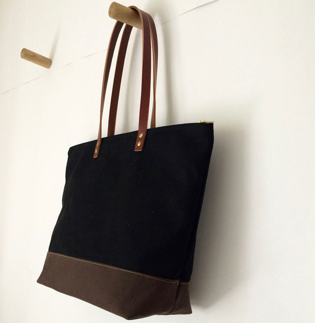 cefaa151c0 modern-coup-waxed-canvas-leather-bags-custom-black-brown-tote-side ...
