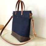 Custom Bag: Commuter Bag in Midnight Blue For A Horse Veterinarian and Knitter