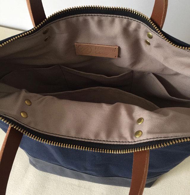 modern-coup-waxed-canvas-leather-bags-custom-cummuter-bag-blue-grey-clare-inside-pockets