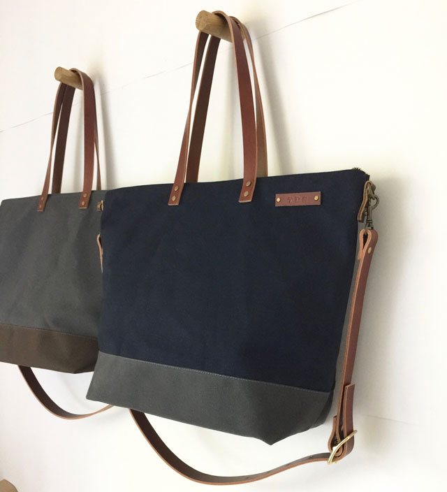 These 2 Carrier Totes Are For Ernest An Interior Designer And His Husband In New York City Wanted A Large Tote Work Travel Decided