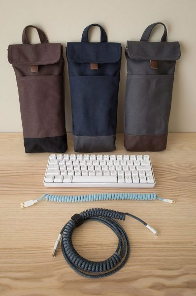 Group Buy for 60% 65% and 68% Mechanical Keyboard Sleeves or Cases | Water Resistant Lightly Waxed Canvas | Handmade in Vancouver