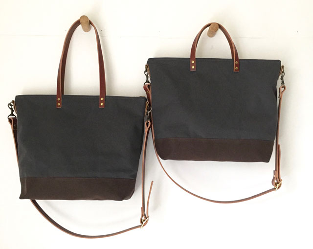 modern-coup-waxed-canvas-leather-bags-utility-carrier-tote-grey-hanging