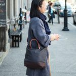 Commuter Bag: A Mid-Size Waxed Canvas and Leather Shoulder Bag