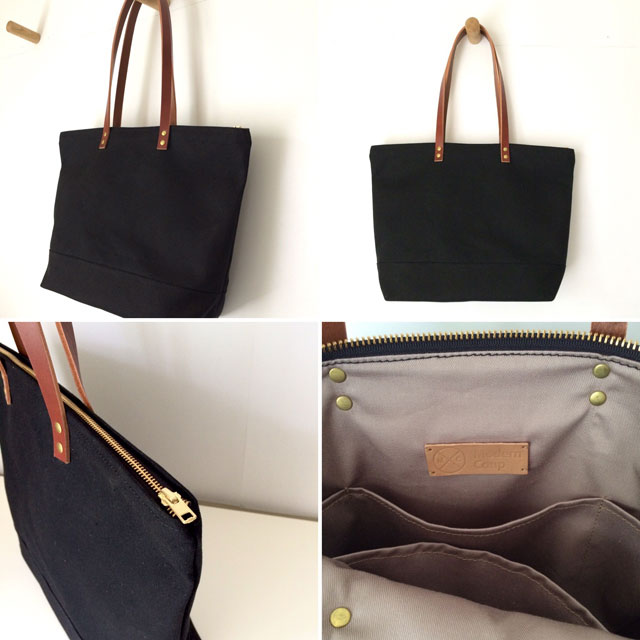 modern-coup-waxed-canvas-tote-black-brown-leather-custom