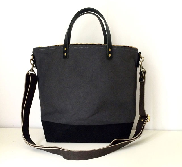 modern-coup-waxed-canvas-totes-commuter-bag-grey-black-front