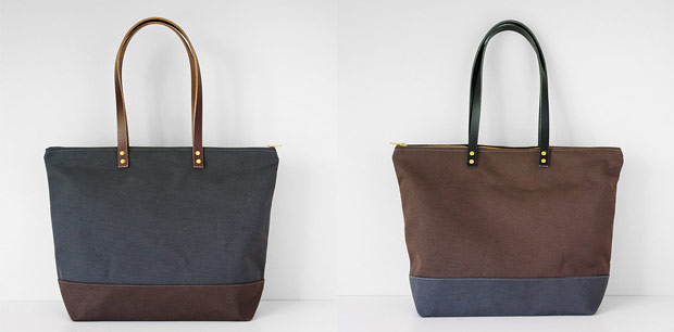 waxed-canvas-bags-totes-grey-brown